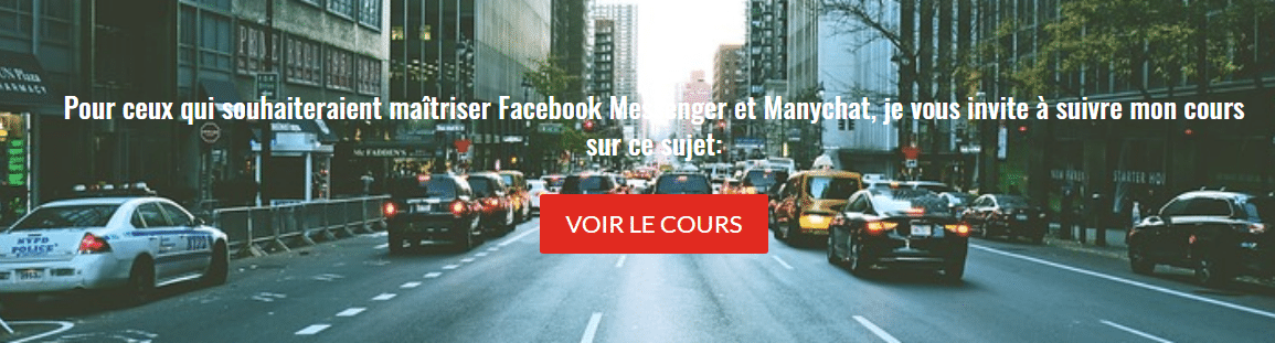 cours facebook messenger et manychat